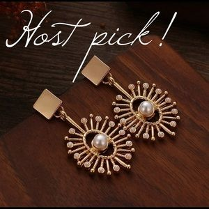 🍸HP🍸Gold Sun Earrings